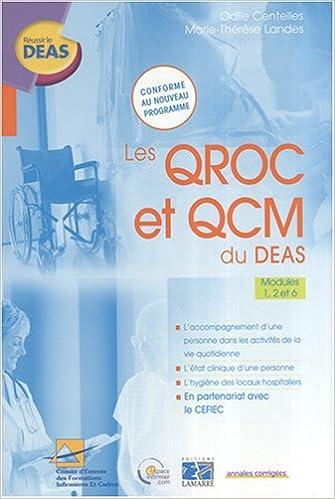 En ligne téléchargement gratuit Les QROC et QCM du DEAS : Modules 1, 2 et 6 pdf epub