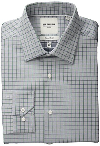 ben-sherman-mens-slim-fit-twill-check-spread-collar-dress-shirt-blue-green-16-neck-34-35-sleeve