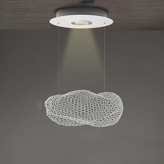 Foco de techo Lámpara colgante LED Mesa de comedor blanca ...