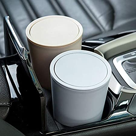 Nrpfell 1Pcs Auto Car Garbage Can Car Trash Can Garbage Dust Case Holder Rubbish Bin Blue
