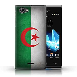 STUFF4 Phone Case / Cover for Sony Xperia J (ST26i) / Algeria/Algerian Design / Flags Collection