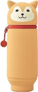 "Lihit Lab PuniLabo Stand Up Pen Case (Pen Holder), Large, 2.9"" x 8.3"", Shiba Dog (A7714-2)"