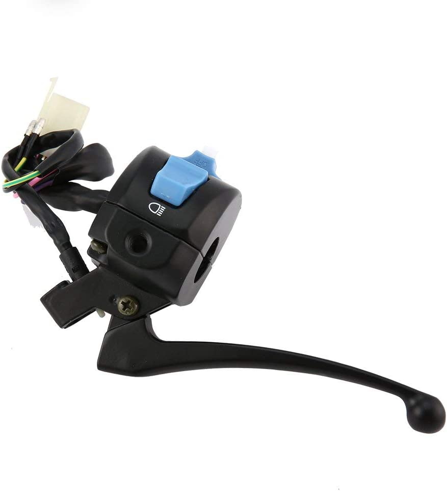 Emily Universal 7//8 Motorcycle GY6 50cc 150cc Left Brake Lever Light Switch Control black