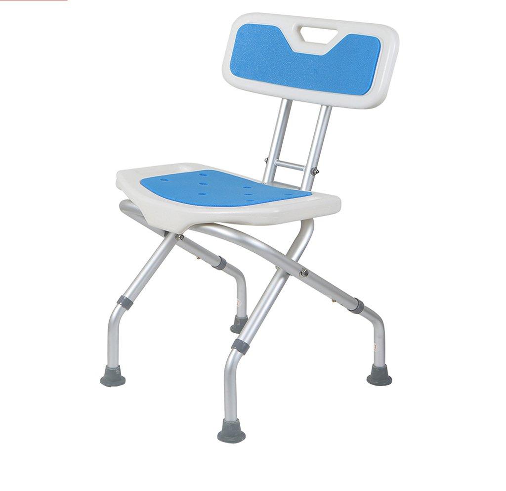 シャワー椅子、背もたれ付き折り畳み式バスルーム老人妊娠中の女性バスチェアシャワーチェア B07BJZ3SKZ