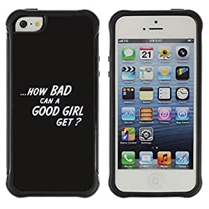 fashion Case / Bad Good Girl Quote Statement / Apple Iphone 5 / 5S