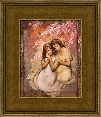 (Annie Henrie Nader Comforting Angel 12x14 Framed Textured)