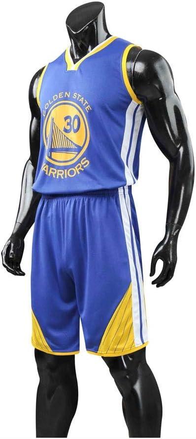 HHUT Hombres Jersey - NBA Stephen Curry - Golden State Warriors # 30 de Bordado de Malla de Baloncesto Retaguardia Chaleco del Verano Camisa Cortocircuitos Conjunto de Dos Piezas: Amazon.es: Deportes y aire libre