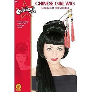 Rubie's China Girl Wig, Black, One Size