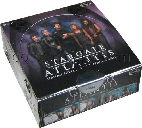 Season Box Cards 4 Trading - Stargate Atlantis Seasons 3 & 4 Trading Cards Box