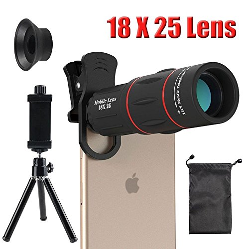 18X Cell Phone Camera telephoto Lens, Zwish Zoom Telephoto Universal Clip On Lens Kit for iPhone 8/7/6S/6 Plus/5/4,Samsung, Android and Other Phones by Zwish
