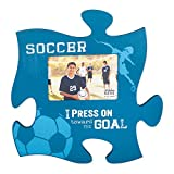 Soccer Goals 4x6 Photo Frame Inspirational Puzzle Piece Wall Art Plaque