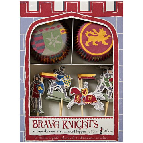 Meri Meri Cupcake Kits, Brave Knights (Castle Cake Decoration)
