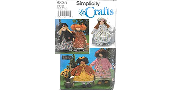 "Simplicity 8835 OOP 26"" Rag Doll /& Clothes Pattern"
