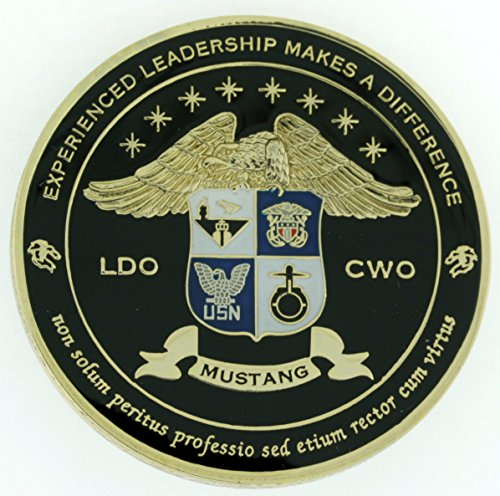 MUSTANG LDO CWO CLASSIC CREST US Navy Challenge Coin
