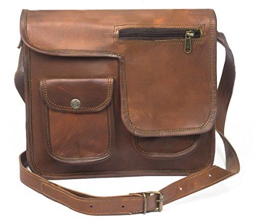pranjals house Genuine Leather Retro Vintage Messenger Shoulder Bag