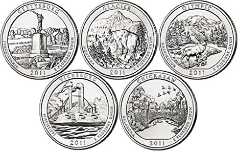 2012 D National Parks Set 5 Coins Uncirculated