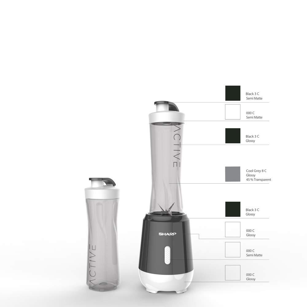 Batidora para Smoothies SHARP SA-FP1001BW, Negro/blanco Botella extraible (negro): Amazon.es: Hogar