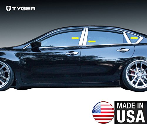 Made In USA! Works With 2013-2018 Nissan Altima 4 Door 6PC Stainless Steel Chrome Pillar Post Trim