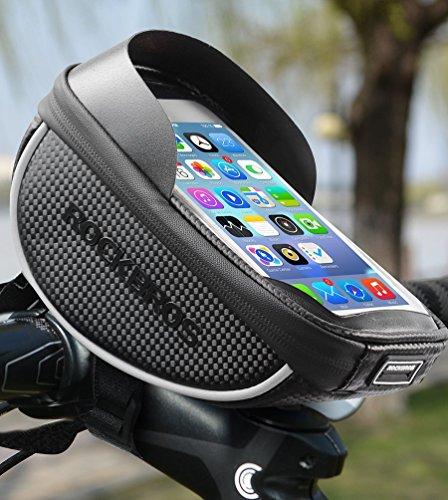 RockBros Bike Phone Bag Waterproof Handlebar Bicycle Phone Case Sensitive Phone Mount Bag Holder For iPhone X 8 7 Plus 6s Below 6.0'' by RockBros (Image #4)
