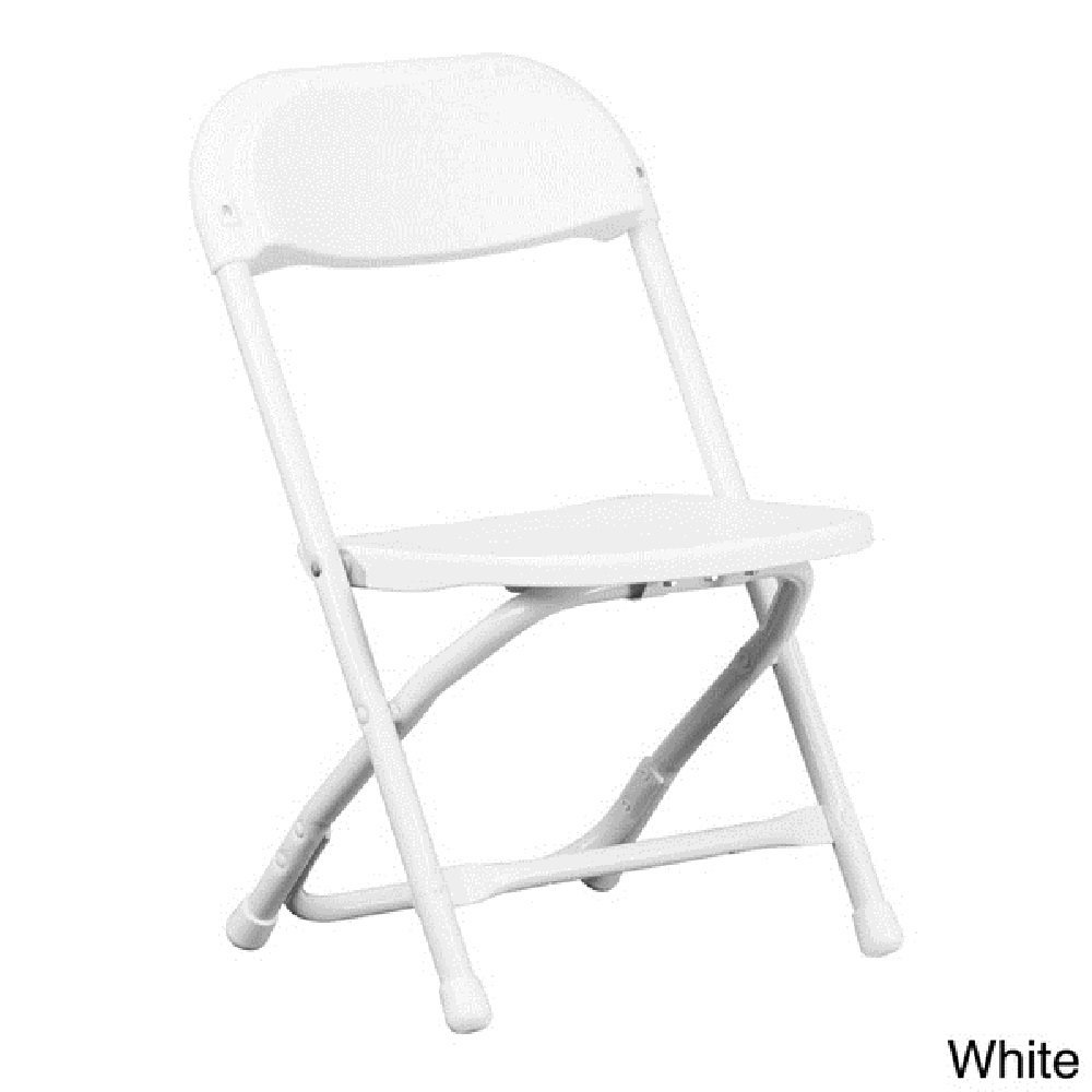 Kids Folding Chair Portable Toddler Chairs Indoor Home Furniture Room Daycare Lightweight Outdoor Armless Playtime Classroom Seating Table Children No Assembly Plastic White