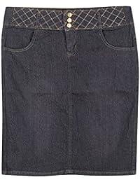 Plus Size Blue Moon Denim Skirt