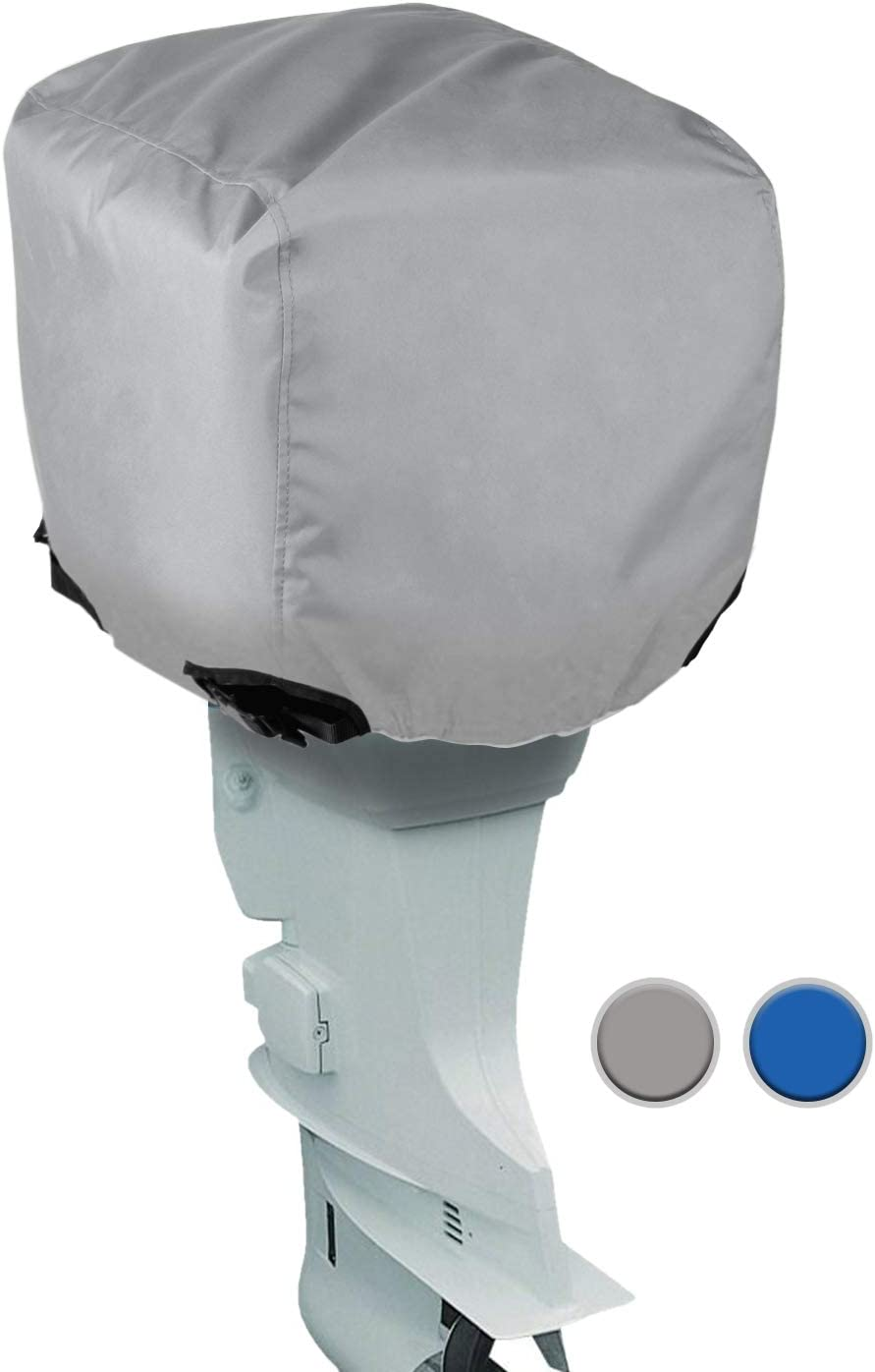 Waterproof Engines Cover Leader Accessories Trailerable Outboard Motor Hood Cover 300HP in Grey Blue Full Size 10HP