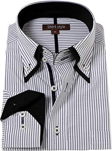 シャツスタイル(shirt style)ワイシャツ メンズ おしゃれ ビジネス 襟高 ドゥエボットーニ/ysh-3009