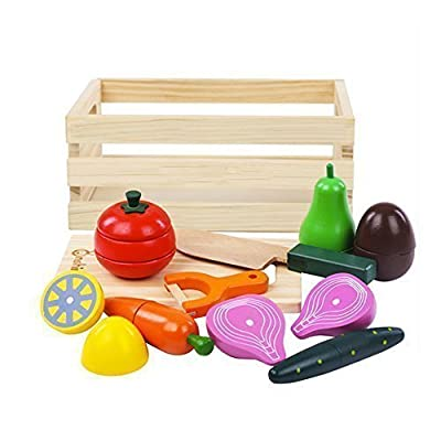 Cool Kids' Kitchen Set Wooden Magnetic Toys Funny Chef Role-Play Pretend Cooking Education Games Christmas Gift