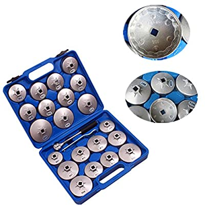 BETOOLL HW0103 23pcs Aluminum Alloy Cup Type Oil Filter Cap Wrench Socket Removal Tool Set 1/2