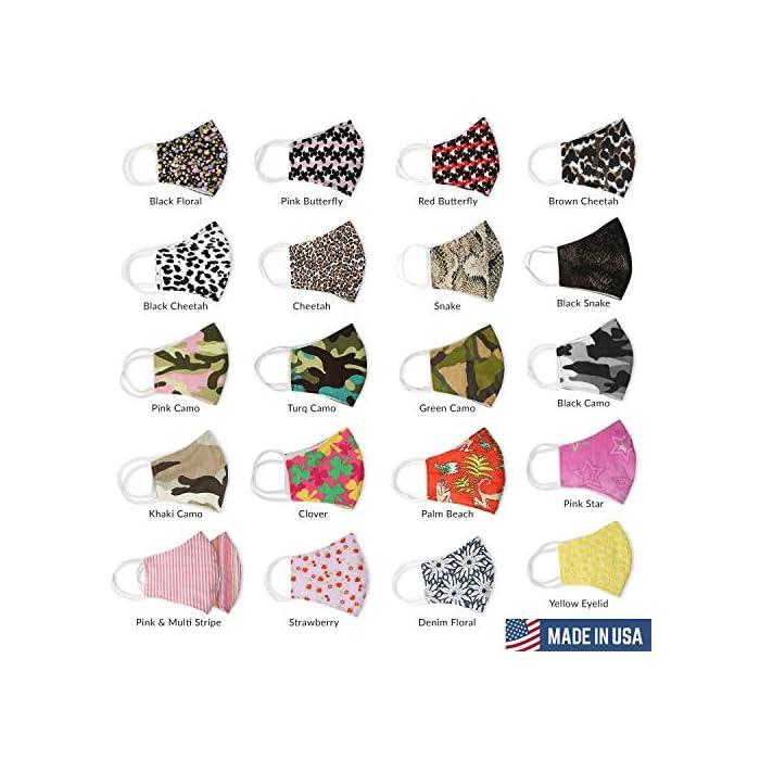 51FFCuRCWbL Ahorre 7,60 Euro al comprar 3 paquetes. Incluye bolsillo de doble capa para filtro opcional con sistema de inserción (filtro no incluido). La cubierta facial de la máscara de tela se puede usar sin filtro. Puede utilizar filtros desechables de filtro PM2.5 o de café de papel. Recomiendo reemplazar su filtro desechable con cada uso. 100% reutilizable lavable ligero rosa multicolor Seersucker a rayas algodón lavar en agua fría y colgar para secar. Nuestras máscaras de alta calidad están diseñadas para hacer sonreír a los que te rodean. Con múltiples colores y varios diseños, puedes encontrar un diseño que coincida con tu atuendo. Alambre de aluminio de puente nasal plegable: Las protecciones faciales tienen metal de puente nasal ajustable moldeable para que pueda evitar que el polvo pase y sus gafas no se empañarán.