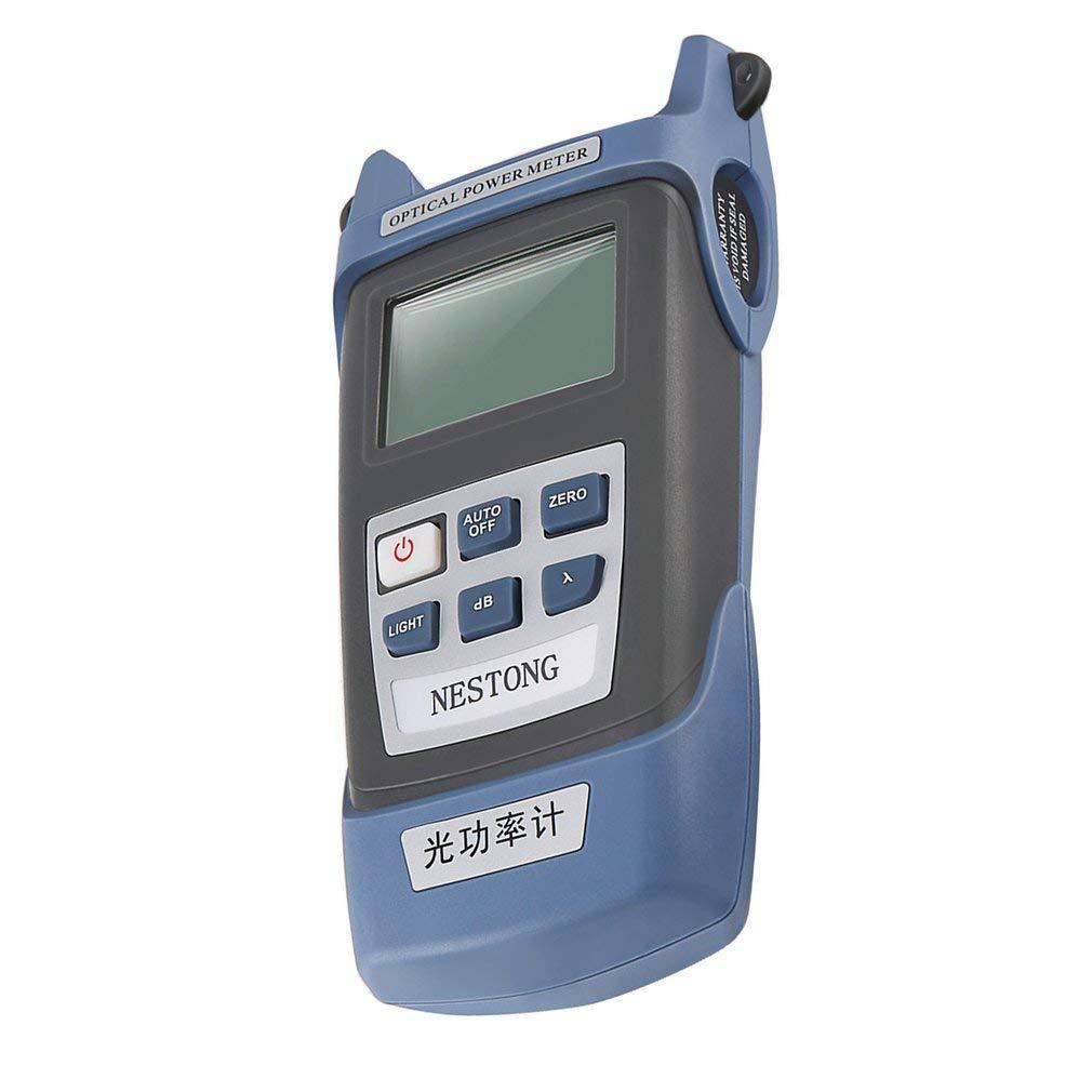 Lorenlli Medidor de potencia de fibra óptica de alta precisión -70 ~ + 10dBm SC/FC / ST Probador de cable de fibra óptica de conector para herramienta de ...