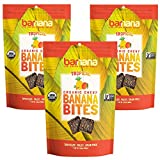 Barnana Organic Chewy Banana Bites - Tropical - 3.5 Ounce, 3 Pack Bites - Delicious Potassium Rich Banana Snacks - Lunch Dinner Sports Hiking Natural Snack - Whole 30, Paleo, Vegan