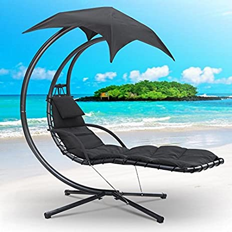 World Pride Heavy Duty Hanging Dream Lounger Chair Chaise Porch Swing Hammock Arc Stand Patio Canopy : dream chair swinging chaise lounge - Sectionals, Sofas & Couches