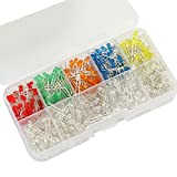 500Pcs 3MM Round Top LED Diode Light White Yellow Red Green Blue Assorted Box DIY Set