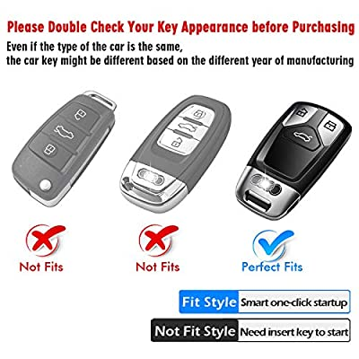 Tukellen for Audi Key Fob Cover case, Special Soft TPU Key Case Cover Protector Compatible with Audi A4 Q7 Q5 TT A3 A6 SQ5 R8 S5 Smart Key (Rose Gold): Office Products