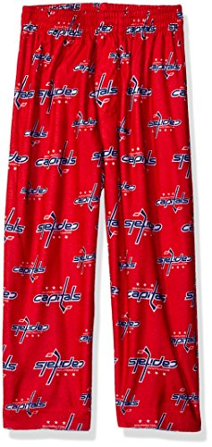 OuterStuff NHL Washington Capitals Toddler Boys Sleepwear All Over Print Pants, Size 4T, Red Good Kids Lounge Pant