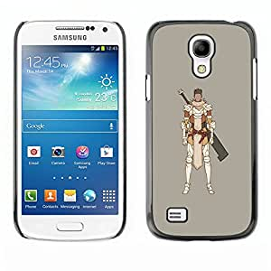 GOODTHINGS (NO PARA S4) Funda Imagen Diseño Carcasa Tapa Trasera Negro Cover Skin Case para Samsung Galaxy S4 Mini i9190 - juego de ordenador samurai espadachín