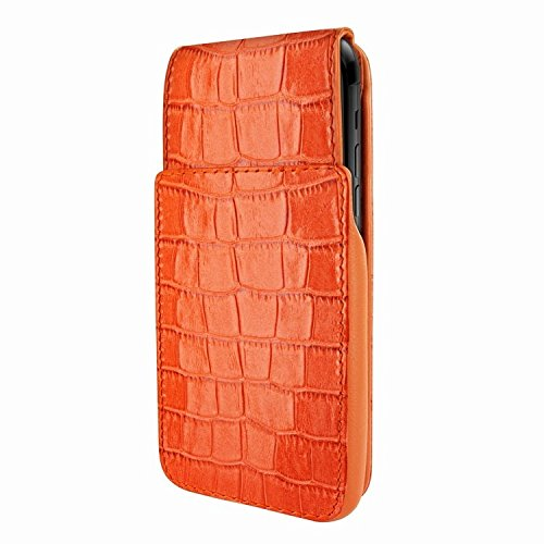 Latest Piel Frama iPhone XR iMagnum Leather Case - Orange Cowskin-Crocodile orange iphone xr case 5