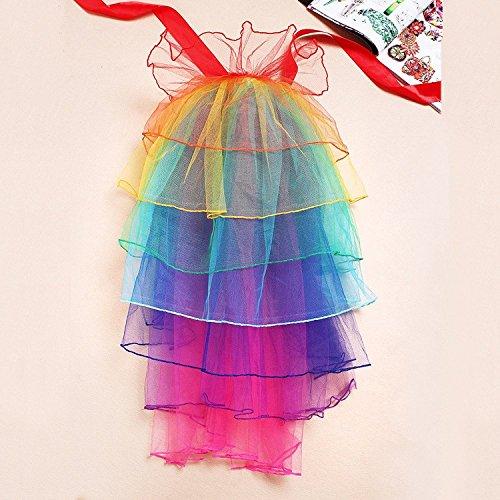 Yanzi6 Lady Rainbow Party Ballet Ruffle 8 Layered Tutu Clubwear