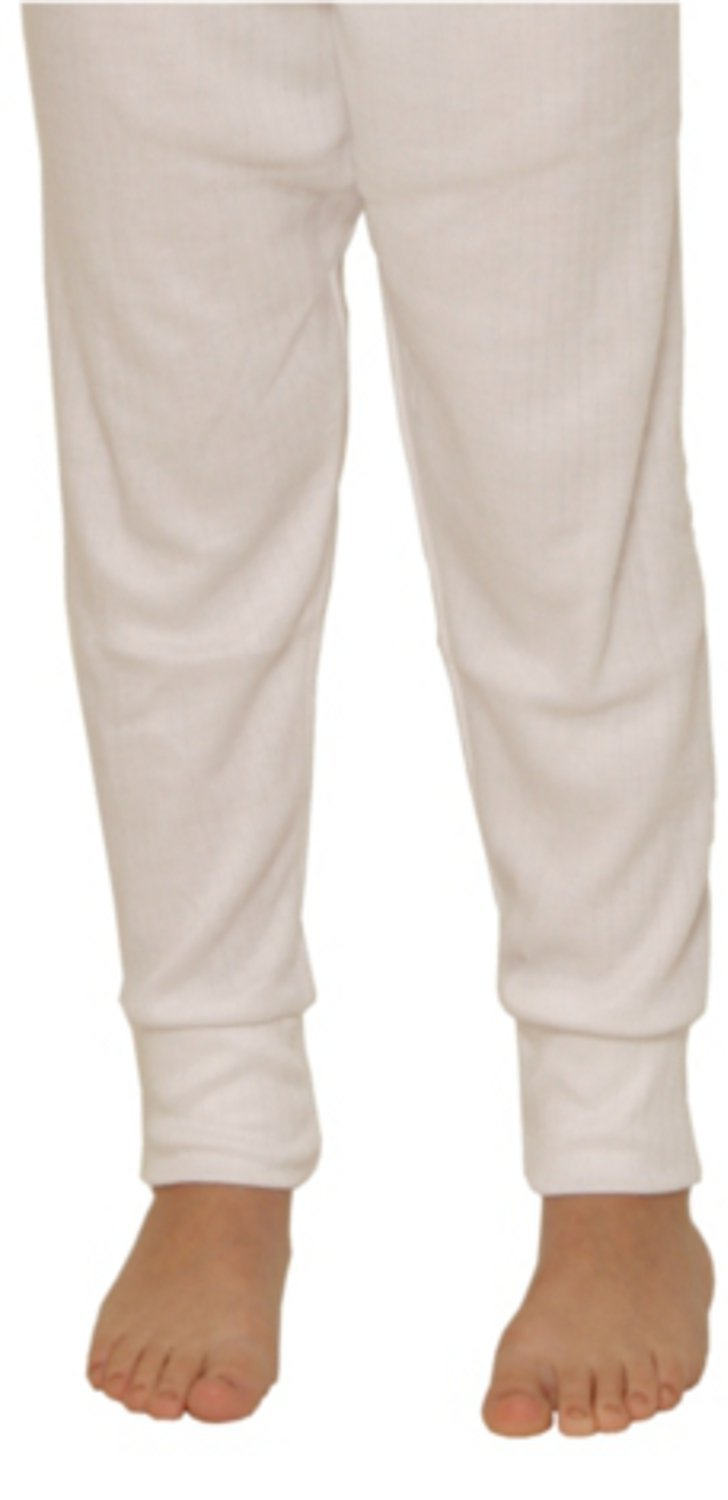 Octave 12 Pack Boys Thermal Underwear Long Johns/Pants/Long Underwear (9-11 yrs [Waist: 22.5 inches], White)