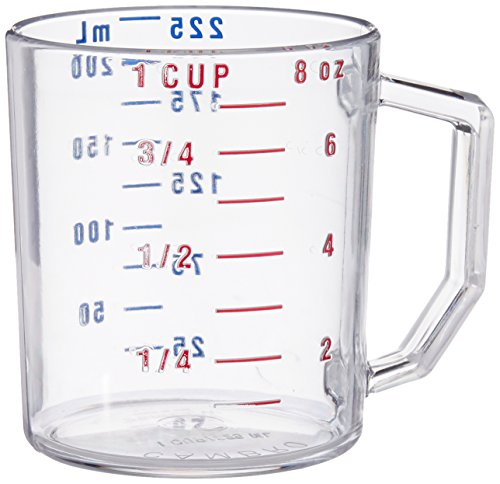 Cambro Camwear Polycarbonate Measuring Cup, 1-Cup Dry Measure, Clear