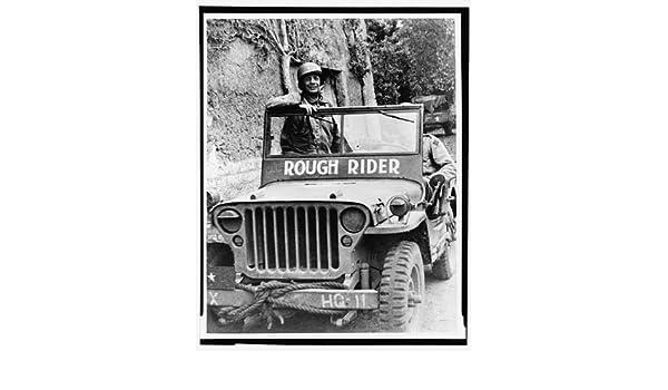 Theodore Roosevelt Jr,jeep,military service,transportation,France,World War,1944