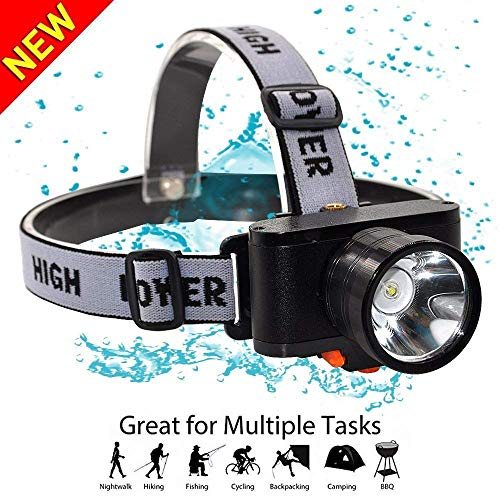 Motion Sensor Headlamp,Rechargeable LED Headlamp Flashlight,HMAN Head lamp, Super bright 3000 Lumens Spotlight,3 Lighting Modes Rechargeable Headlight,Camping,Hunting,Fishing,Hiking (X)