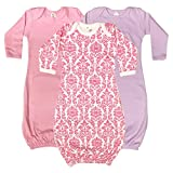 The Laughing Giraffe Long Sleeve Baby Sleeper Gowns 100% Cotton