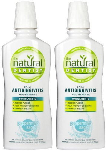 - The Natural Dentist Healthy Balance All Purpose Mouth Rinse, Peppermint Sage - 16.9 oz - 2 pk