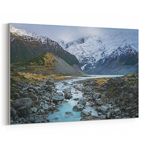 Westlake Art - Canvas Print Wall Art - Aoraki / on Canvas Stretched Gallery Wrap - Modern Picture Photography Artwork - Ready to Hang - 18x12 (f30 - Highland Stores Village