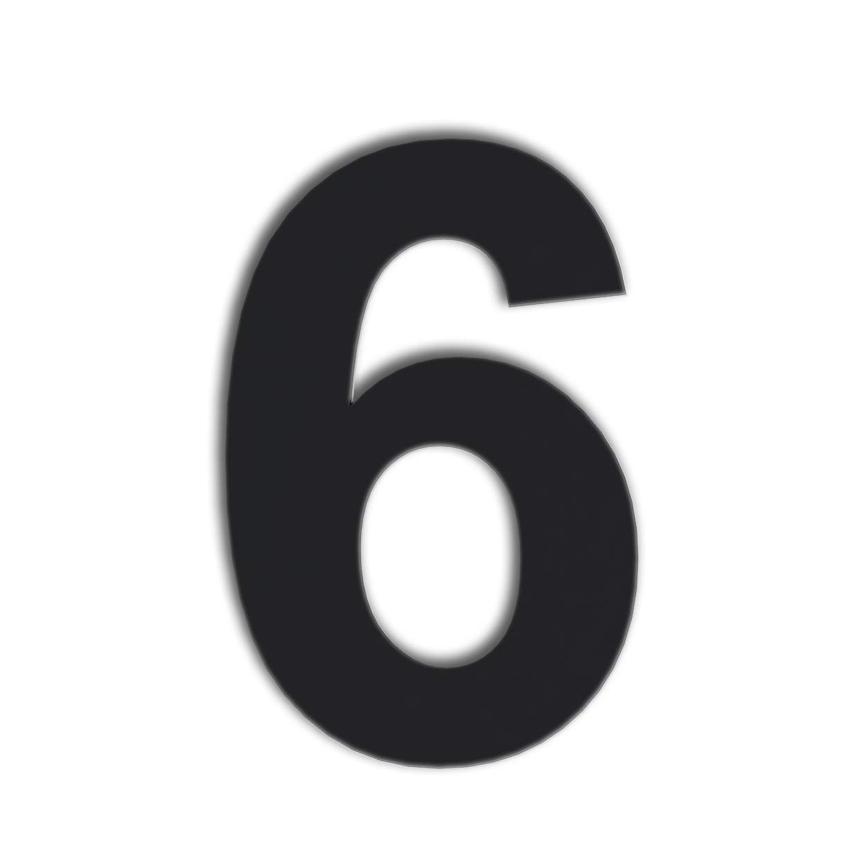 QT Modern House Number - Extra Large 10 Inch Black - Stainless Steel (Number 6 Six / 9 Nine), Floating Appearance, Easy to Install and Made of Solid 304