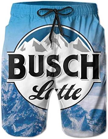 Men's Beach Shorts Swim Trunks Quick Dry Running Classic Fit Beach Pants with Mesh Lining