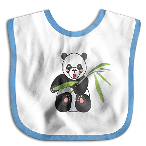 Price comparison product image Panda Eating Bamboo Funny ParticularBaby Waterproof Bibs For Drooling And Teething.