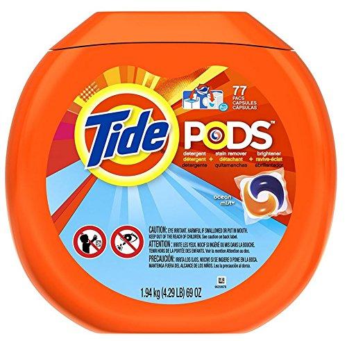 Tide Pods Detergent, Ocean Mist, 77 - Mist Ocean Scent